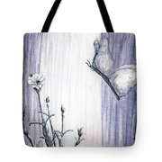 Butterfly At The Veil Tote Bag