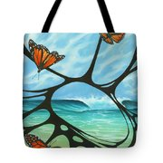 Butterfly Beach Tote Bag