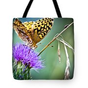 Butterfly Beauty And Little Friend Tote Bag