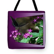 Butterfly Black 16 By 20 Tote Bag