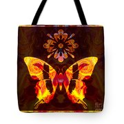 Butterfly By Design Abstract Symbols Artwork Tote Bag