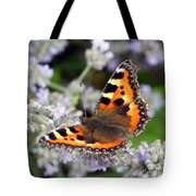 10088 Small Tortoiseshell Butterfly Tote Bag