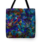 Butterfly Collage Blue Tote Bag