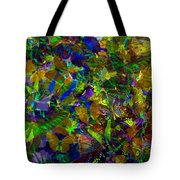 Butterfly Collage Yellow Tote Bag