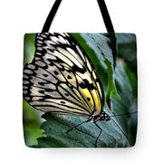 Butterfly - Green Leaf Tote Bag