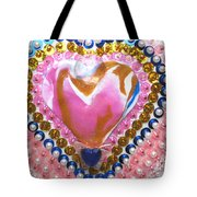 Butterfly-heart Detail Tote Bag