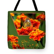 Butterfly In A Sea Of Orange Floral 02 Tote Bag