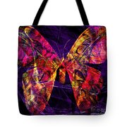 Butterfly In Abstract Dsc2977 Square Tote Bag