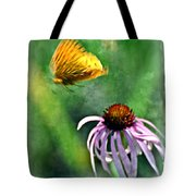 Butterfly In Flight Tote Bag by Marty Koch