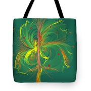 Butterfly In Green Tote Bag