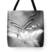 Butterfly In Motion #1961bw Tote Bag