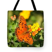 Butterfly In The Glades - Gulf Fritillary Tote Bag