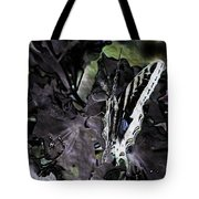 Butterfly In Violet Green And Black Tote Bag