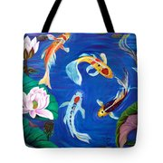 Butterfly Koi Tote Bag
