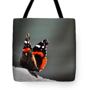 Butterfly Landing Tote Bag