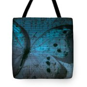 Butterfly Midnight Symphony Tote Bag