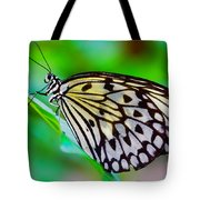 Butterfly On A Leaf Tote Bag