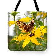 Butterfly On Blackeyed Susan Tote Bag