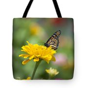 Butterfly On Carnation Tote Bag
