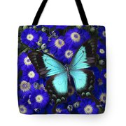 Butterfly On Cineraria Tote Bag