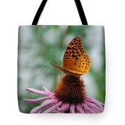 Butterfly On Cornflower Tote Bag