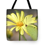 Butterfly On Daisy Tote Bag