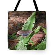 Butterfly On Fern Tote Bag