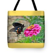 Butterfly On Flower Tote Bag