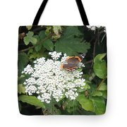 Butterfly On Lace Tote Bag