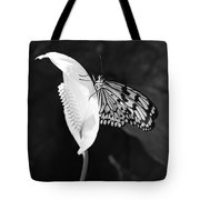 Butterfly On Peace Lilly Tote Bag