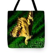 Butterfly On Pine Tote Bag