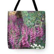 Butterfly Park Flowers Painted Wall Las Vegas Tote Bag