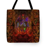 Solar Golden Butterfly Tote Bag