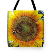 Butterfly Sunflower Tote Bag