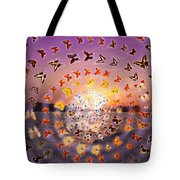Butterfly Sunset Tote Bag