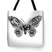 Butterfly With Design Tote Bag