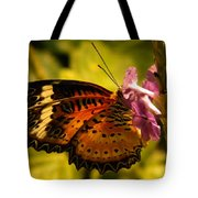 Butterfly With Flower Tote Bag
