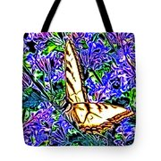 Butterfly With Purple Flowers 2 Tote Bag
