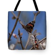 Butterfy In Almond Blossoms   #9289 Tote Bag