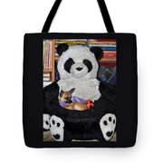 Button And The Panda Bear Tote Bag