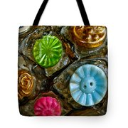 Button Biographies Tote Bag