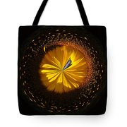 Button Of A Sunflower Tote Bag
