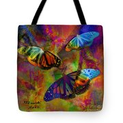 Buttrerfly Collage All About Butterflies Tote Bag