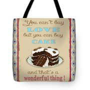 Buy Cake Typography Tote Bag