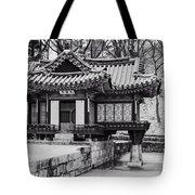 Buyongjeong Pavilion In Secret Garden Tote Bag
