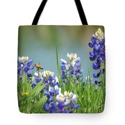 Buzzing The Bluebonnets 01 Tote Bag