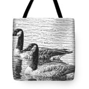 Bw Hdr Geese On The Pond I Tote Bag