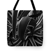 Bw Variegated Agave Tote Bag
