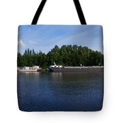 By A Canal Panorama Tote Bag