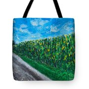 By An Indiana Cornfield The Road Home Tote Bag